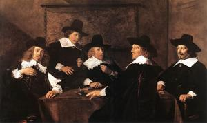 Frans Hals - Regents do Hospital Santa Isabel da Haarlem