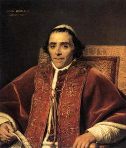 Jacques Louis David - Retrato de Papa Pio VII