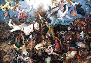 Pieter Bruegel The Elder - o queda do rebelde anjos