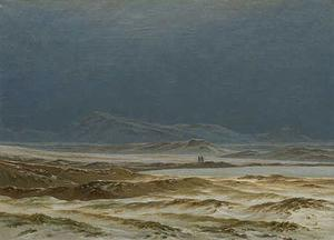 Caspar David Friedrich - norte paisagem Salte