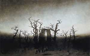 Caspar David Friedrich - a abadia em oakwood