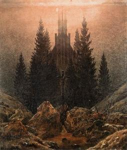 Caspar David Friedrich - a cruz no montanhas