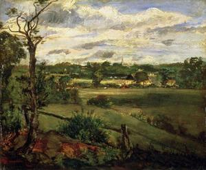 John Constable - Vista de Highgate de Hampstead Heath