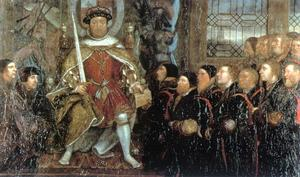 Hans Holbein The Younger - henry viii e o Barbeiro Surgeons1