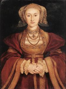 Hans Holbein The Younger - retrato de anne de cleves