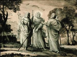Claude Lorrain (Claude Gellée) - Journey to Emmaus