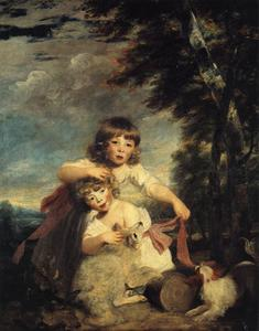 Joshua Reynolds - William e George Brummell Bryan Brummell