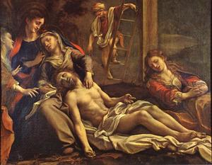 Antonio Allegri Da Correggio - `deposition` do cruz