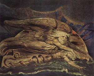 William Blake - elohim erschuf adam