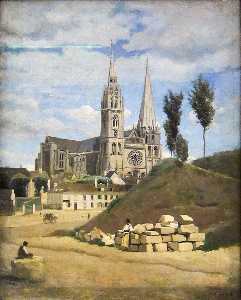 Jean Baptiste Camille Corot - A Catedral de Chartres