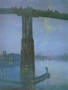 James Abbott Mcneill Whistler - Noturno em azul e ouro - old battersea Ponte
