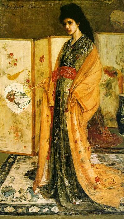 rosa e prata . o princesa do terra de porcelana, Petróleo por James Abbott Mcneill Whistler (1834-1903, United States)