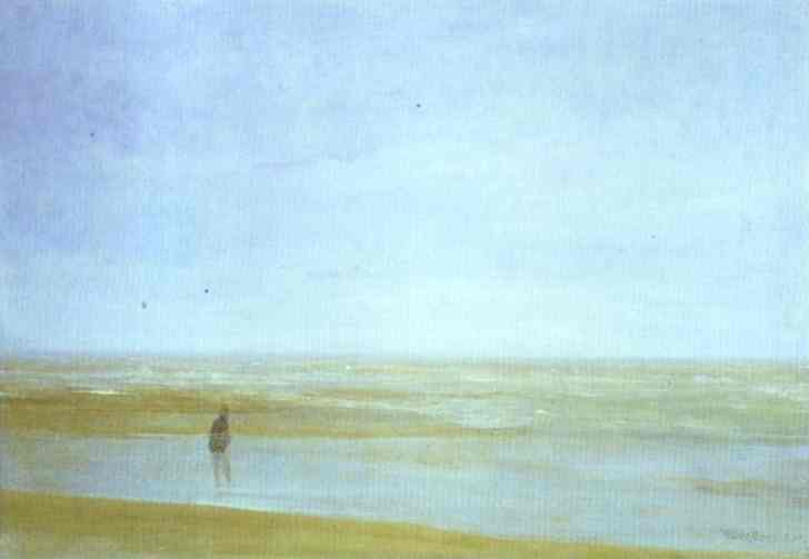mar e chuva, Petróleo por James Abbott Mcneill Whistler (1834-1903, United States)