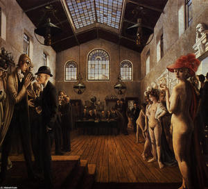 Paul Delvaux - o Congresso