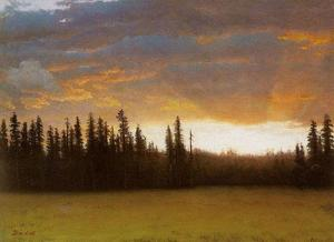 Albert Bierstadt - califórnia pôr do sol 2
