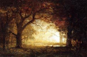Albert Bierstadt - floresta nascer do sol