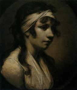 Joseph Wright Of Derby - harriet wright , o Artist's Filha