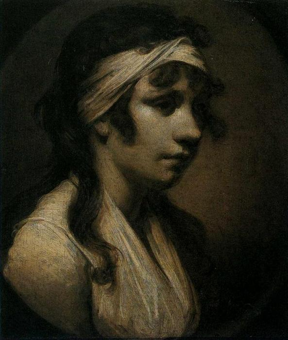 harriet wright , o Artist`s Filha por Joseph Wright Of Derby (1734-1797, United Kingdom) | Museu De Reproduções De Arte Joseph Wright Of Derby | WahooArt.com