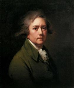 Joseph Wright Of Derby - auto-retrato no idade de sobre  cinquenta