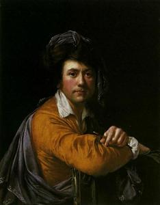 Joseph Wright Of Derby - auto-retrato no idade de sobre  quarenta