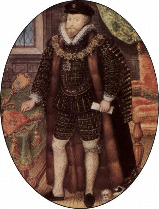 Christopher Hatton, óleo por Nicholas Hilliard (1577-1619, United Kingdom)