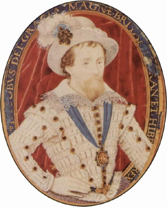 James Eu, Petróleo por Nicholas Hilliard (1577-1619, United Kingdom)