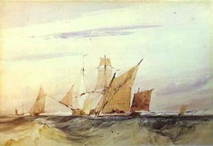 Richard Parkes Bonington - remessa fora o costa de kent