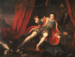William Hogarth - David Garrick como Richard III