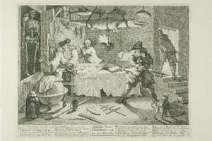 William Hogarth - Hudibras e Sidrophel, placa oito de Hudibras