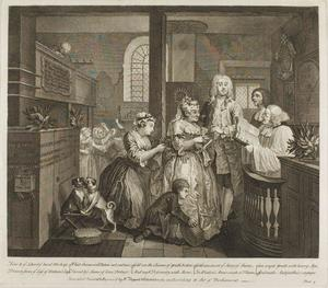 William Hogarth - Plate cinco , de um Rake's Progress