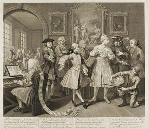 William Hogarth - Plate dois , de um Rake's Progress