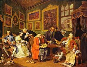 William Hogarth - O contrato de casamento