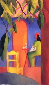 August Macke - Turco Cafe  ( II )