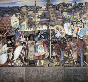 Diego Rivera - Totonac Civilization