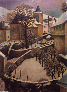 Dora De Houghton Carrington - Larrau Snowscape
