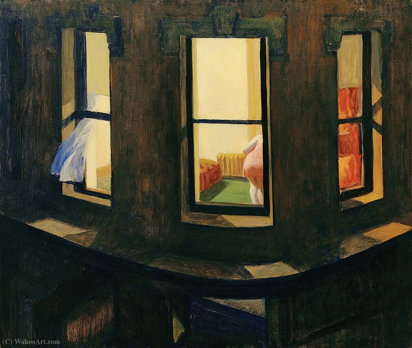 Noite do Windows, 1928 por Edward Hopper (1931-1967, United States) |  | WahooArt.com