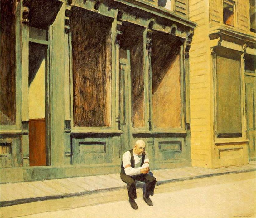 Domingo, óleo sobre tela por Edward Hopper (1931-1967, United States)