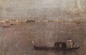 Francesco Lazzaro Guardi - Gondola na Lagoa