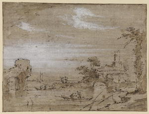 Francesco Lazzaro Guardi - Lagoa Capriccio (recto)