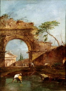 Francesco Lazzaro Guardi - Paisagem - Capriccio
