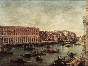 Francesco Lazzaro Guardi - o grande canal no peixe mercado ( Pescheria )