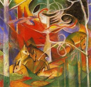 Franz Marc - veado no floresta