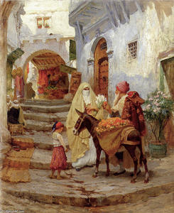 Frederick Arthur Bridgman - The Orange Vendedor 1