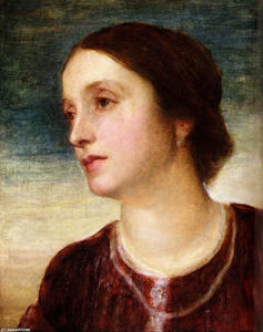 George Frederic Watts - Retrato do condessa Somers
