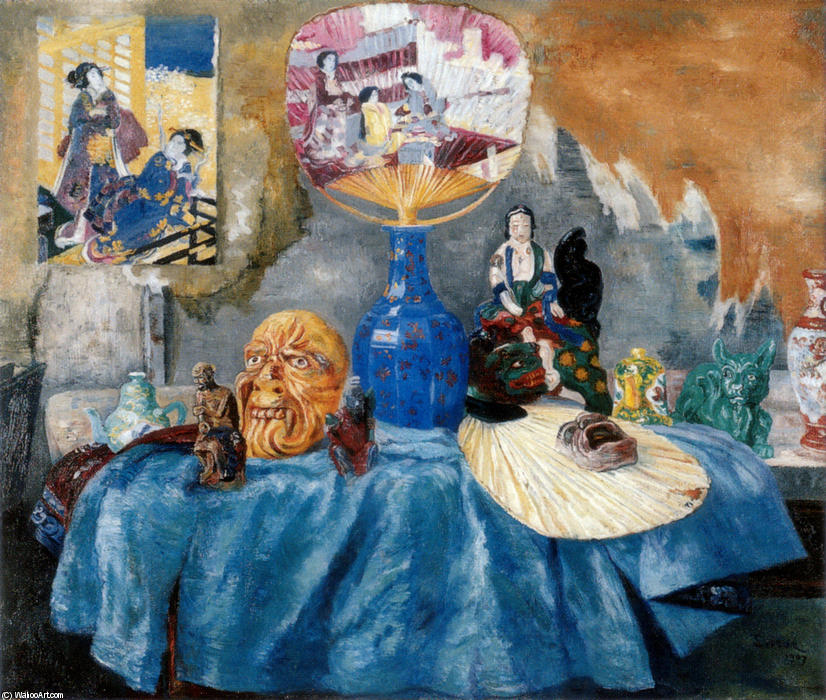 Chinoiseries, óleo por James Ensor (1860-1949, Belgium)