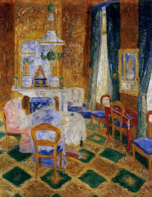 Le Salon Bourgeois, óleo por James Ensor (1860-1949, Belgium)