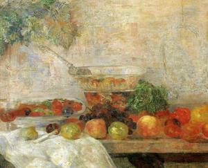 James Ensor - Natureza aux morte frutos et au perroquet
