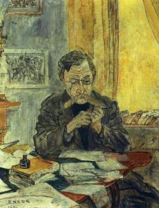 James Ensor - Retrato d- emile verhaeren