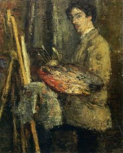 James Ensor - Retrato de l' artista au chevalet