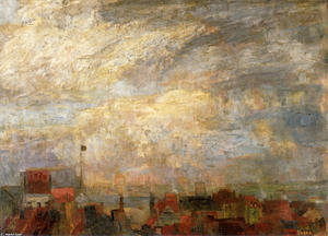 James Ensor - Telhados de Ostend